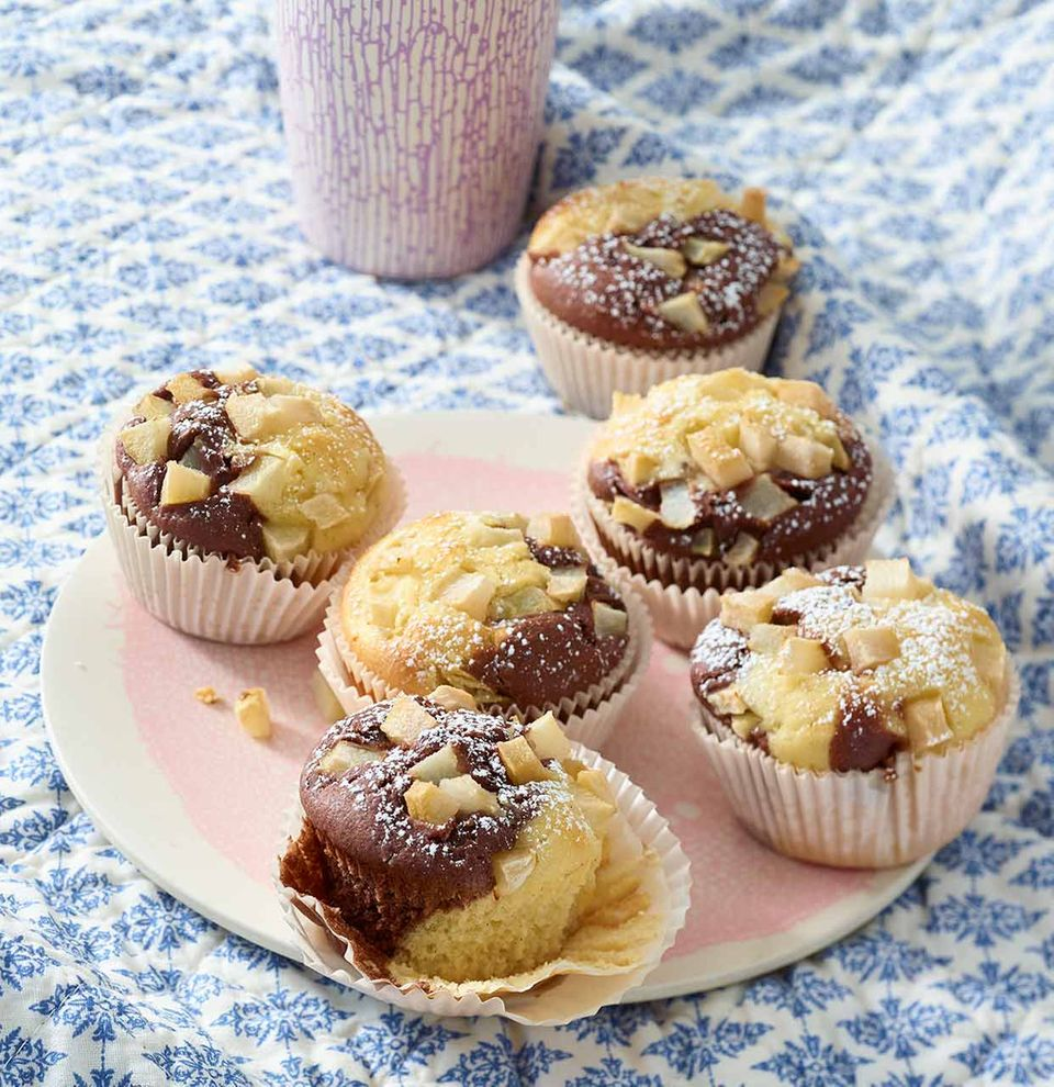 Schwarz-Weiß-Muffins