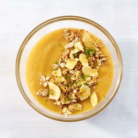 Pfirsich-Bananen-Bowl