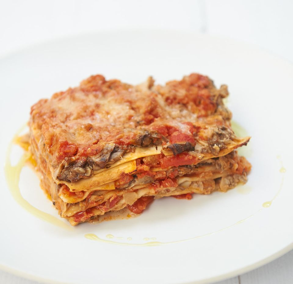 Champignon-Lasagne