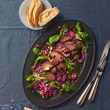 Marinierter Hirschrücken mit Rotkohlsalat für Thermomix ®