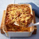 Low-Carb-Lasagne mit Ei und Bolognese