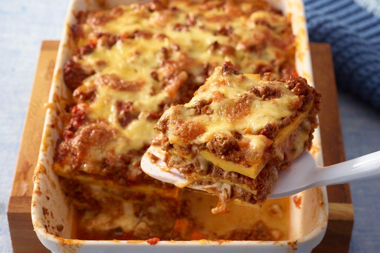 Low Carb Lasagne mit Ei Rezept