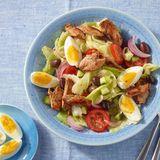 Bunter Salat mit Schweinefilet