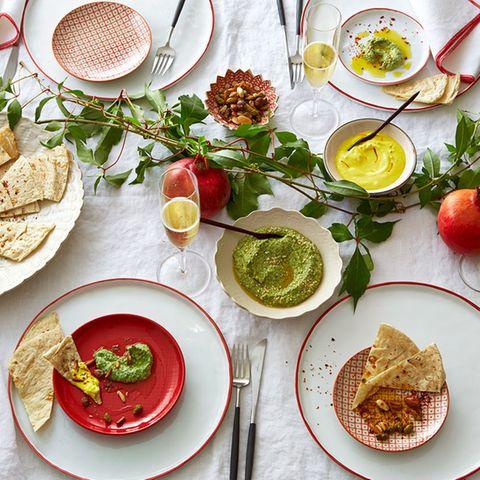 Orient-Menü gedeckter Tisch
