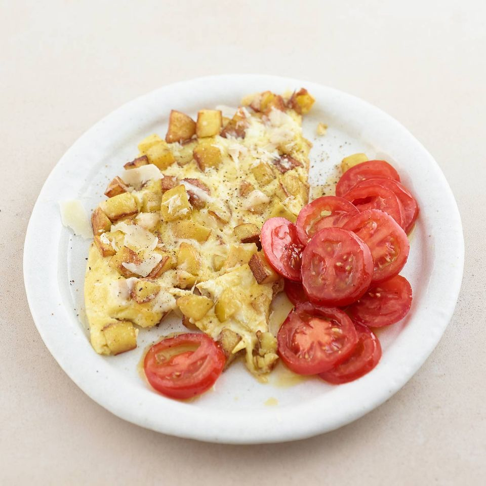 Blitz-Kartoffel-Omelett