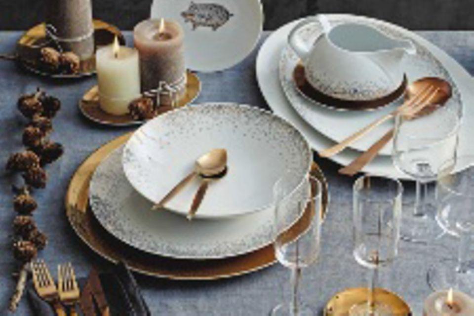 Tischdeko fürs Weihnachtsmenü