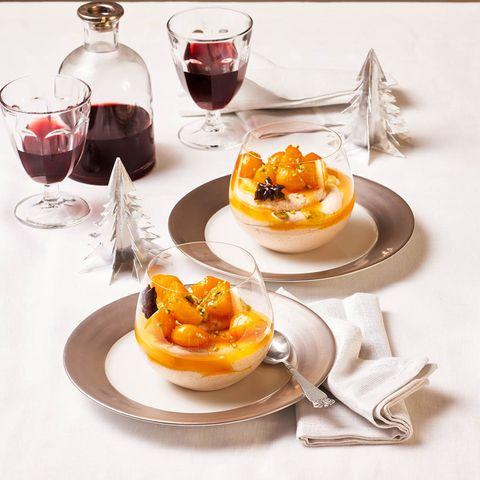 Zimt-Mousse mit marinierten Kumquats für Thermomix ®