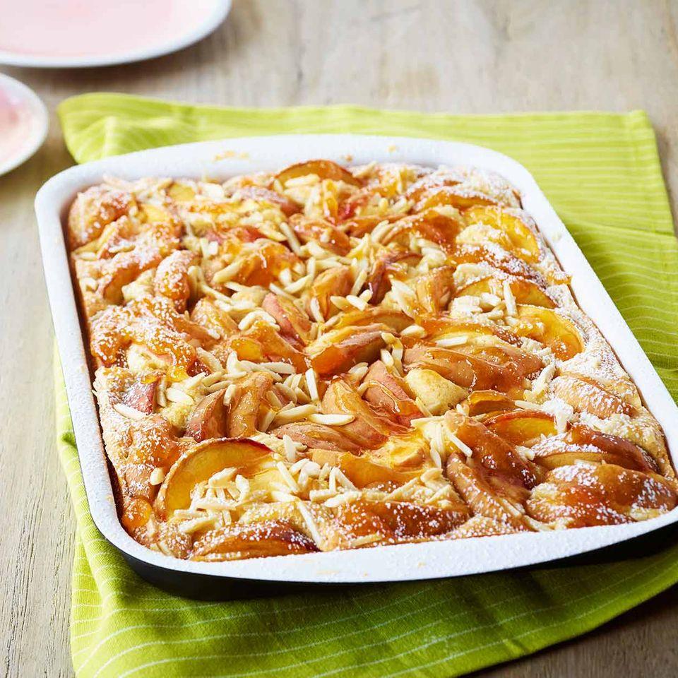 Pfirsichkuchen vom Blech