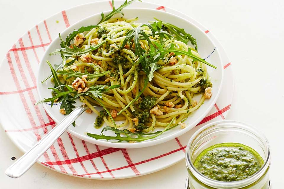 Spaghetti mit Walnuss-Pesto: Thermomix ® Rezept