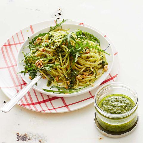 Spaghetti mit Walnuss-Pesto Thermomix ®: Rezept