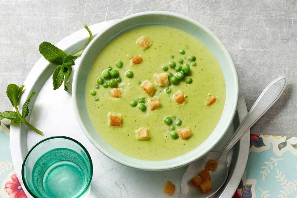 Erbsen-Minz-Suppe: Thermomix ® Rezept