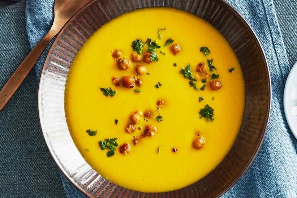 Möhren-Kichererbsen-Suppe für Thermomix ® Rezept