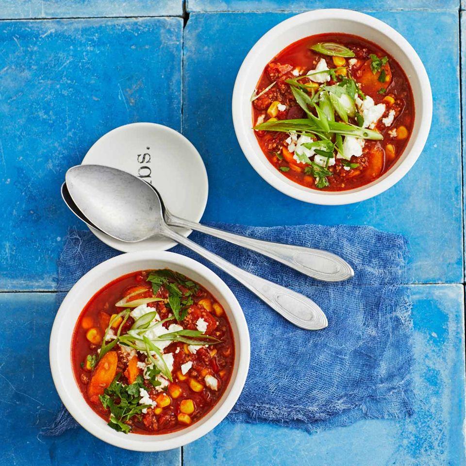 Chili con Carne mit Feta für Thermomix ®: Rezept