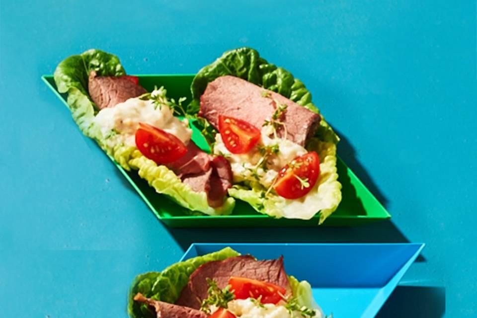 Roastbeef-Schiffchen: Thermomix ® Rezept