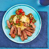 Steak mit Bohnenpüree mit Thermomix ®