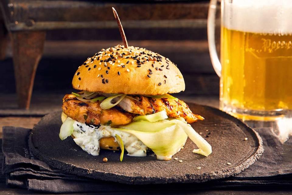 Hähnchen-Burger: Thermomix ® Rezept