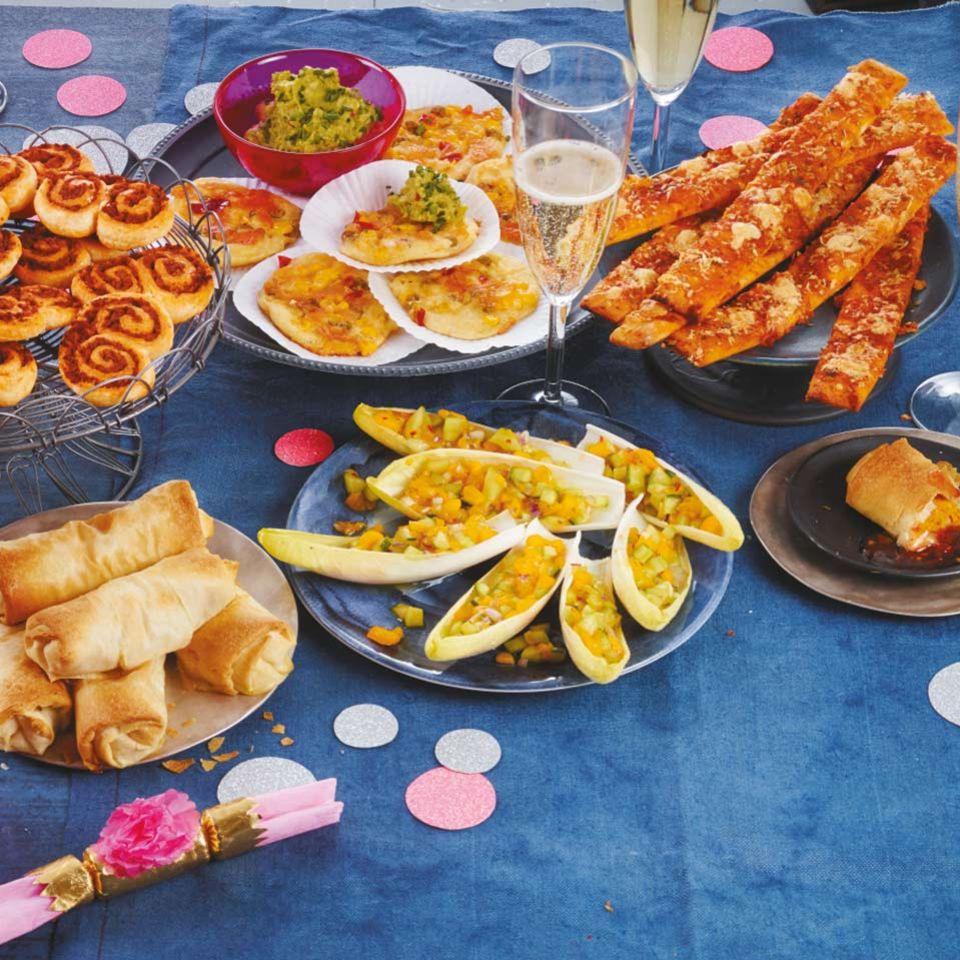 Fingerfood-Buffet für Silvester