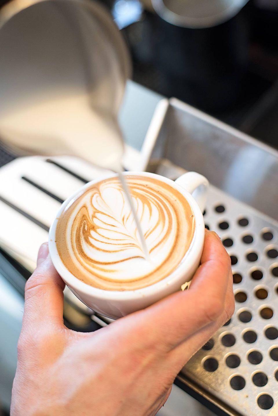 Hermetic Coffee Roasters less political latte art