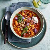 Kartoffel-Tomaten-Curry mit Auberginen