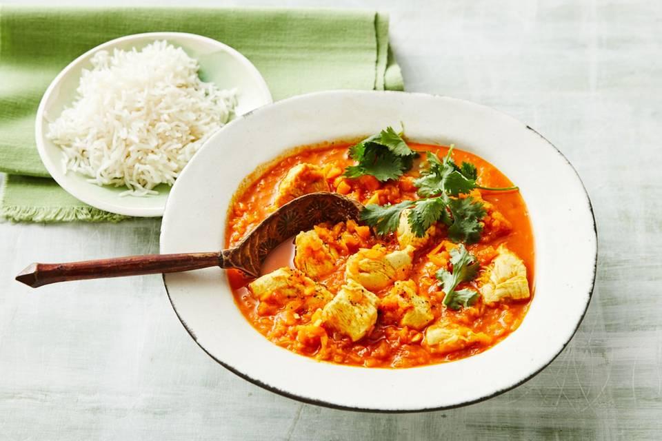 Indisches Hähnchen-Curry: Thermomix ® Rezept
