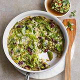Bohnen-Lauch-Tortilla mit Avocado-Dip