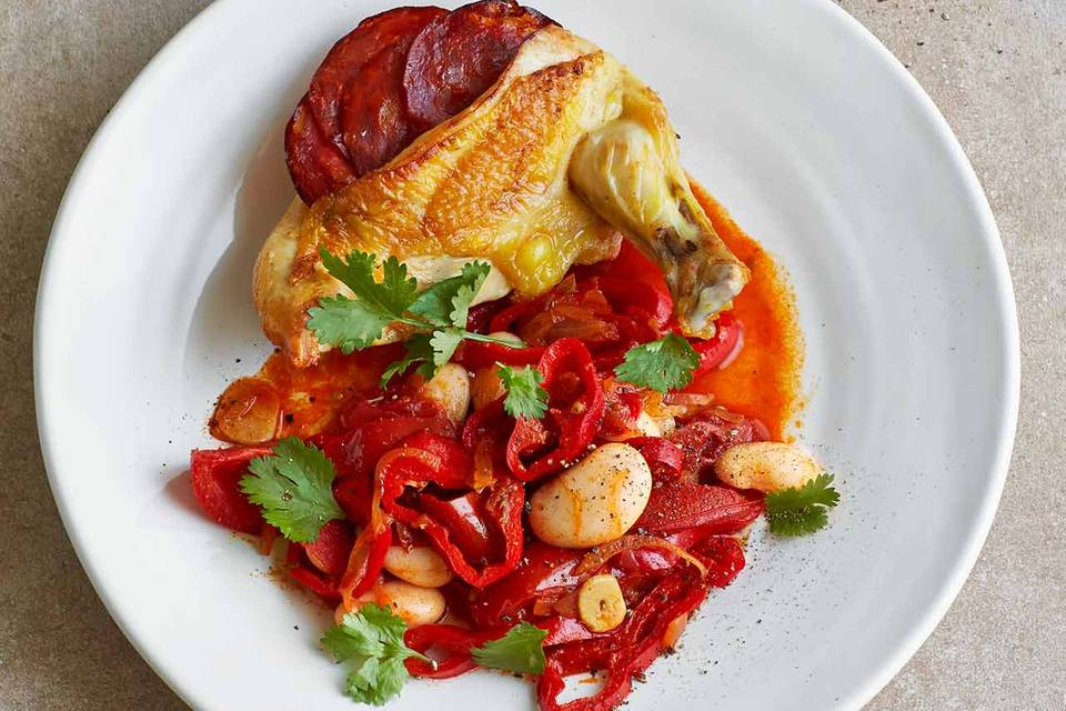 Spanisches Chorizo-Hähnchen Rezept