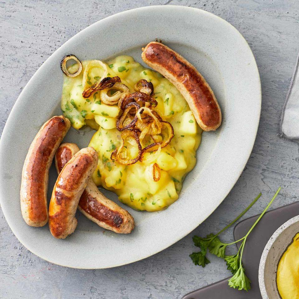 Kartoffel-Apfel-Ragout mit Bratwürstchen für Thermomix ®