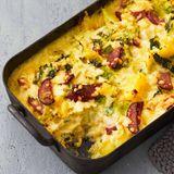 Kartoffel-Kürbis-Auflauf mit Wirsing und Cabanossi Thermomix ®