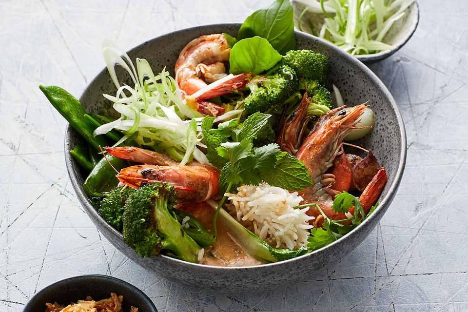 Garnelen-Curry und rote Currypaste Rezept