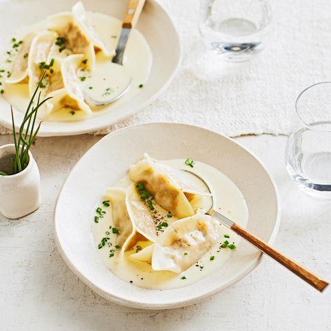 Wan Tan mit Ricotta und Käsesauce für Thermomix ®