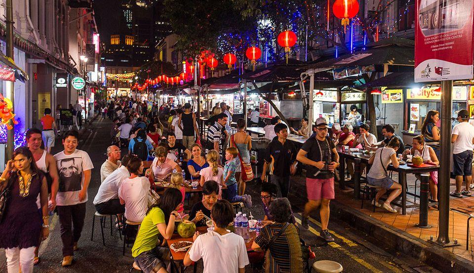Chinatown Food Street Singapur