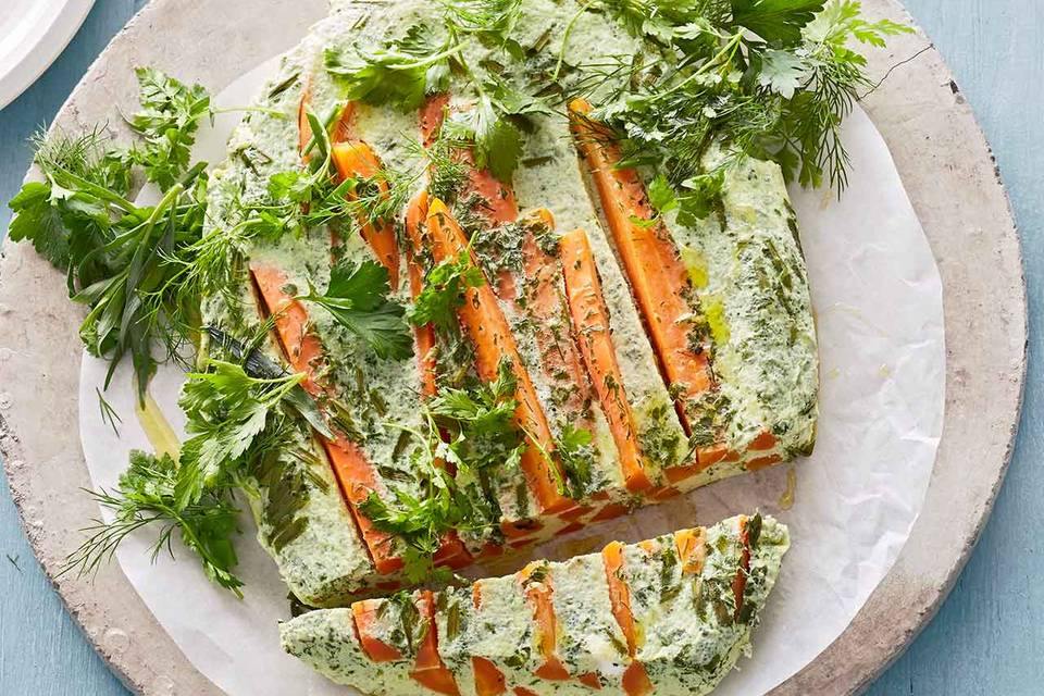 Möhren-Kräuter-Omelett: Thermomix ® Rezept