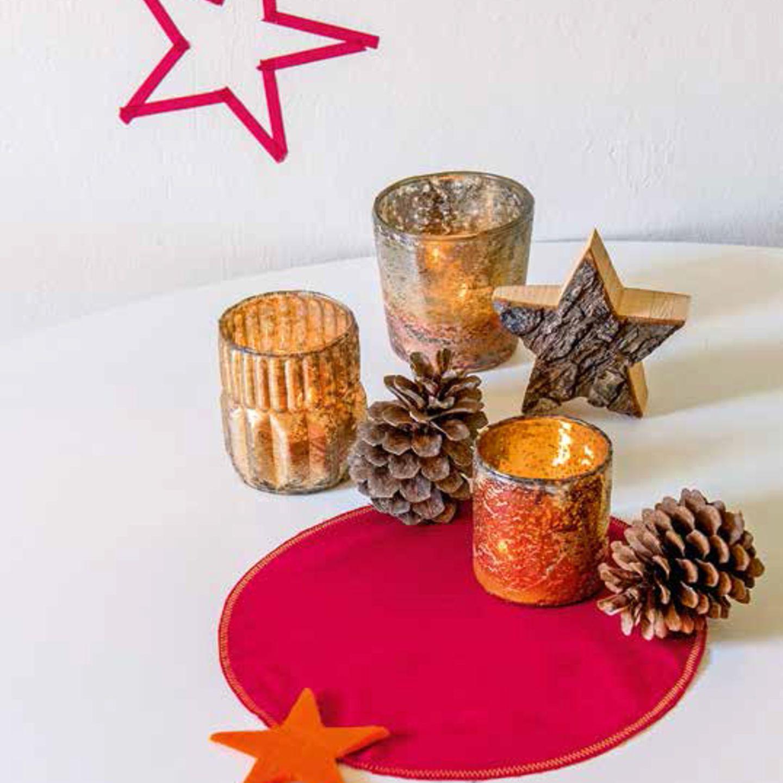 Weihnachtliches Tischset nähen
