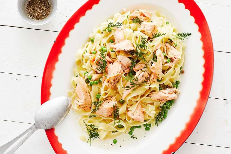 Zitronen-Lachs-Pasta: Thermomix ® Rezept
