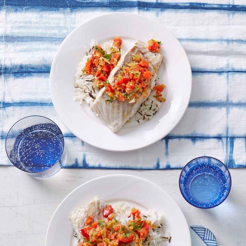 Kreolischer Fisch: Thermomix ® Rezept