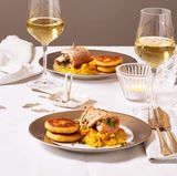 Saiblingsröllchen mit Kürbis-Sauerkraut und Kartoffelplätzchen: Thermomix ® Rezept