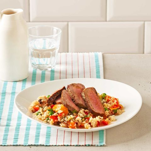 Gemüse-Couscous mit Lammrücken: Thermomix ® Rezept