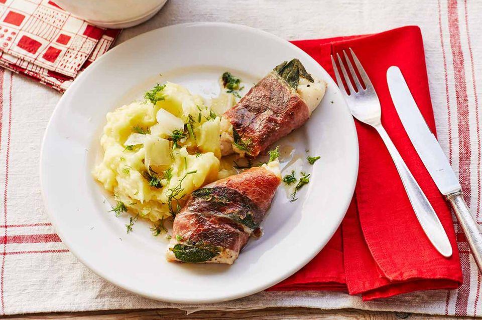 Saltimbocca vom Kabeljau mit Fenchel-Kartoffel-Püree: Thermomix ® Rezept