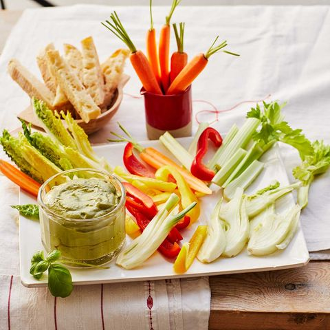 Gemüse mit Basilikum-Bagna-fredda: Thermomix ® Rezept
