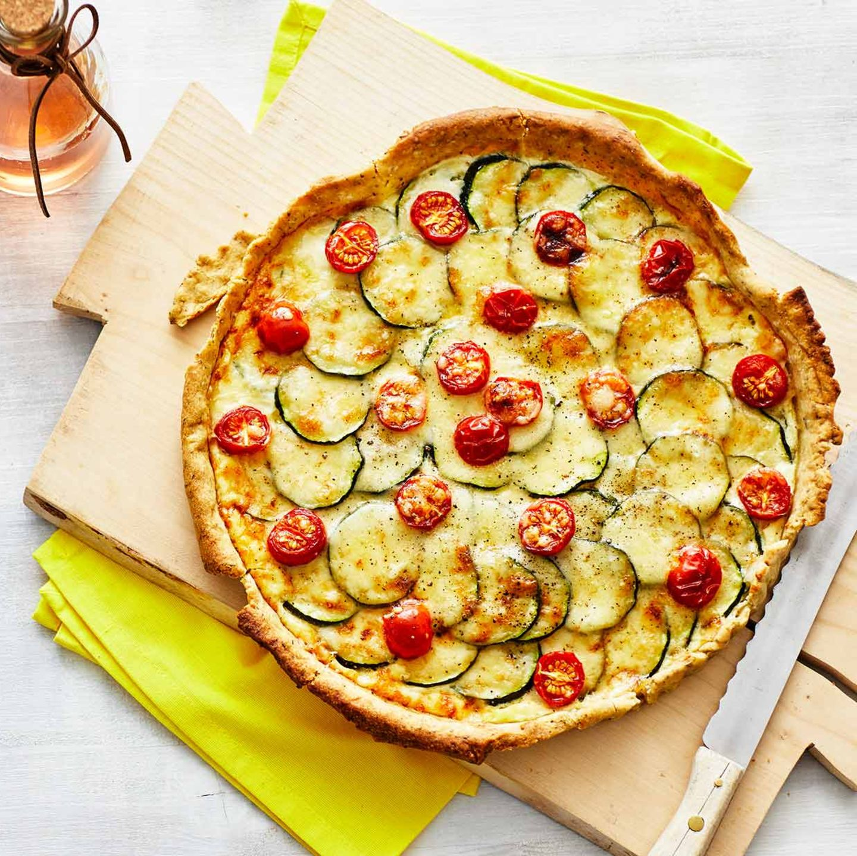 Französische Zucchini-Tarte: Thermomix ® Rezept