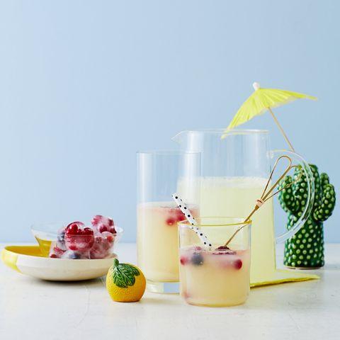 Limonade mit Frucht-Eiswürfeln: Thermomix ® Rezept