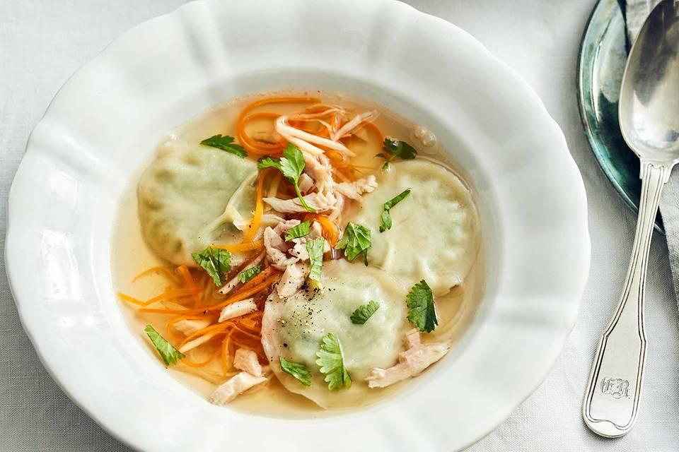 Hühnerbrühe mit Wan Tan Rezept