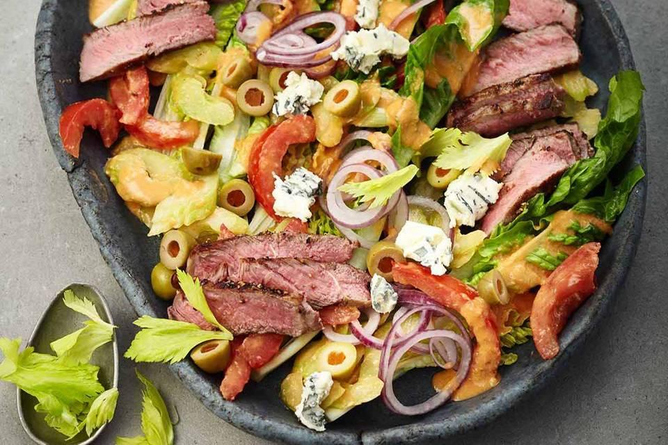 Steaksalat mit Roquefort Rezept