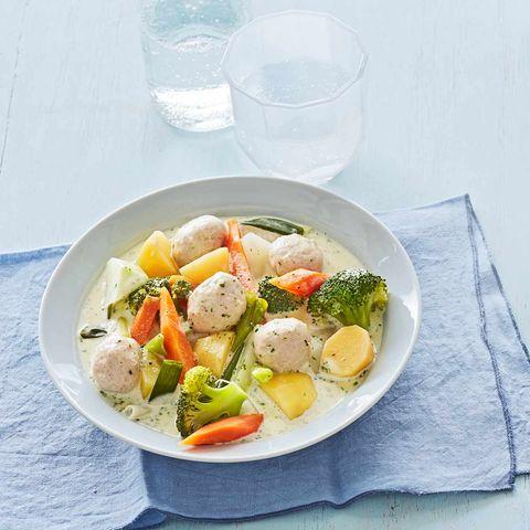 Gemüseragout mit Brätklößchen: Thermomix ® Rezept