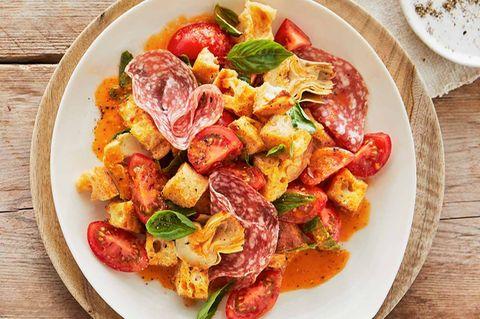 Tomaten-Brot-Salat: Thermomix ® Rezept