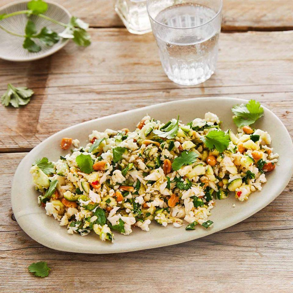 Blumenkohl-Zucchini-Salat: Thermomix ® Rezept