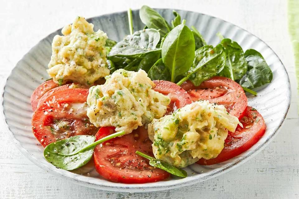 Brotknöpfle mit Salat: Thermomix ® Rezept