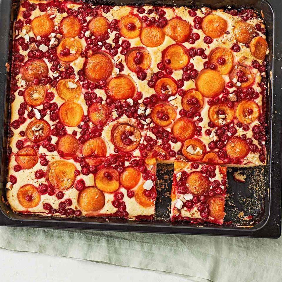 Aprikosen-Johannisbeer-Kuchen: Thermomix ® Rezept