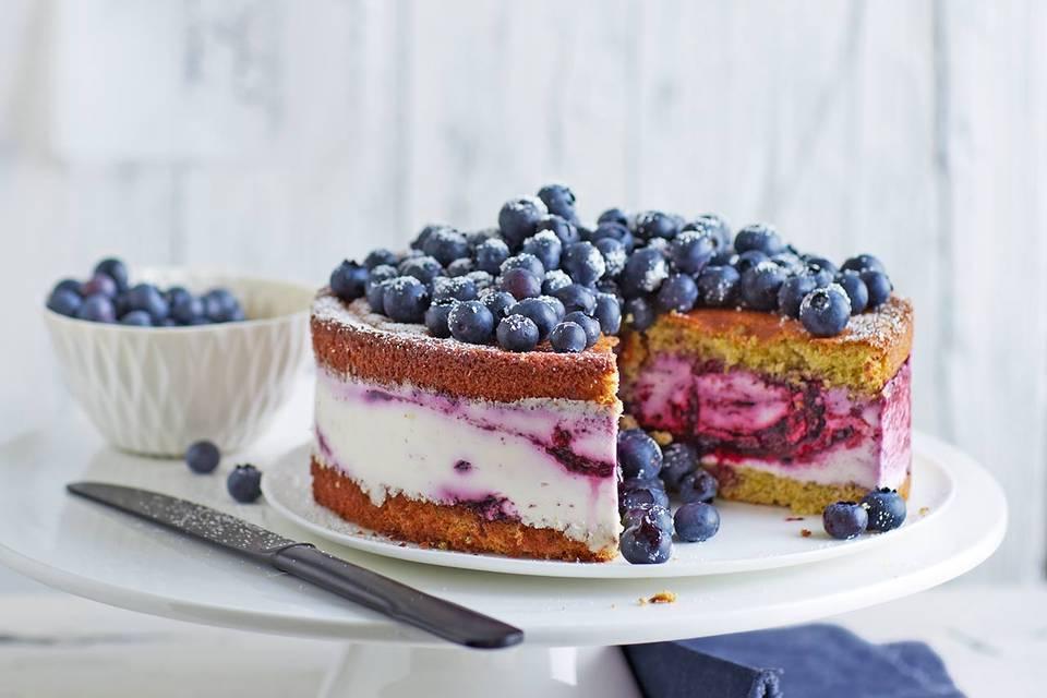 Quark-Sahne-Blaubeer-Torte: Thermomix ® Rezept