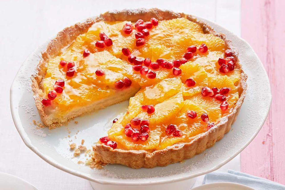 Orangen-Granatapfel-Tarte: Thermomix ® Rezept